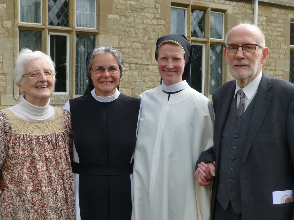 Sr. Hilda with her parents and Sr. Maria.