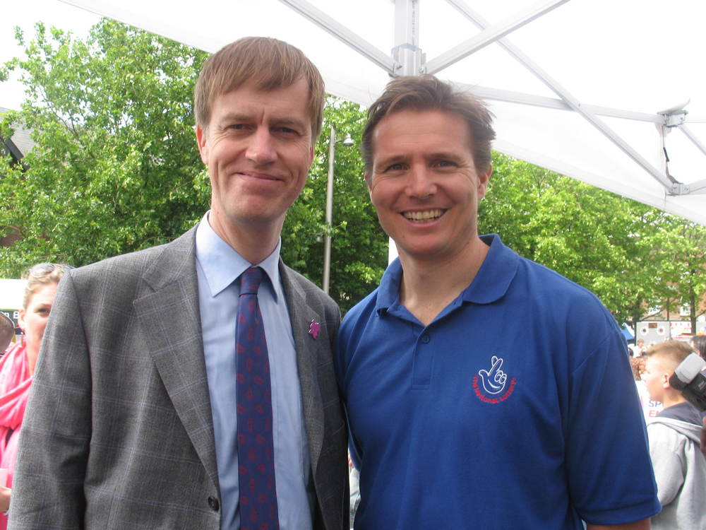 Stephen with Roger Black (2007)