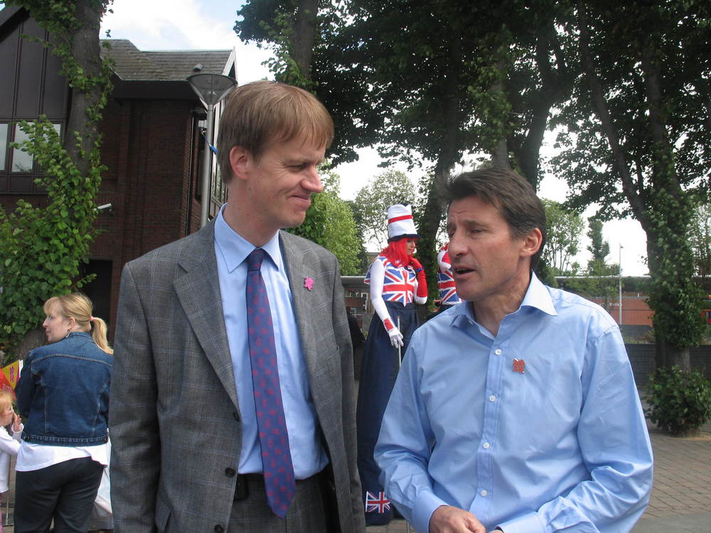 Stephen Timms with Lord Sebastian Coe (2007)