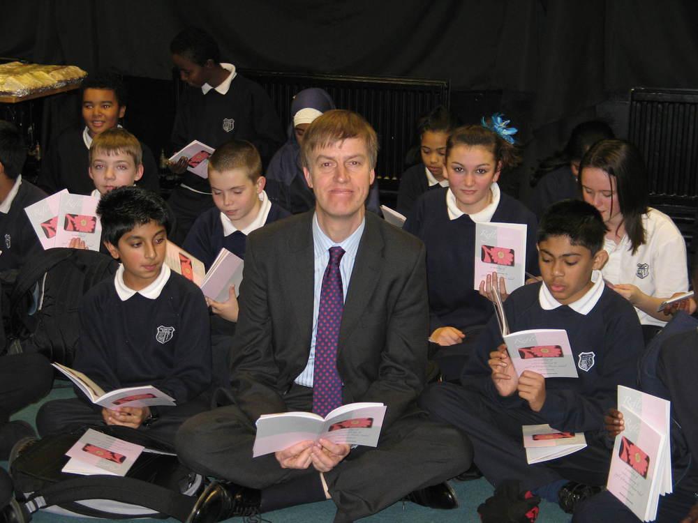 Stephen with Brampton Manor Pupils (2007)