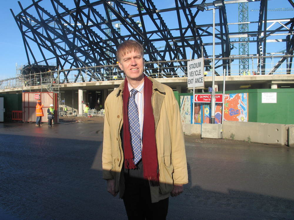 Stephen visiting Olympic Park site (2008)