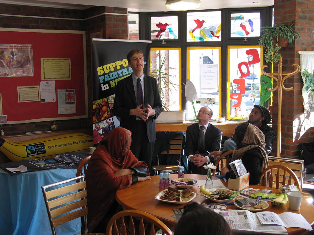 Stephen supporting Fair Trade in Newham campaign (2008)