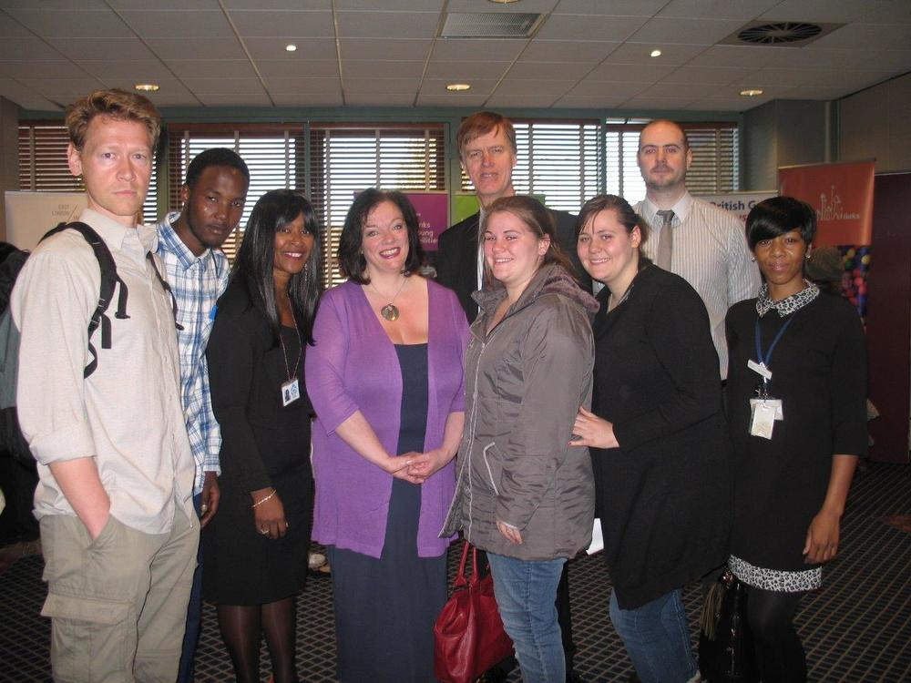 Stephen and Lyn with some of the attendees of the Jobs Fair last year