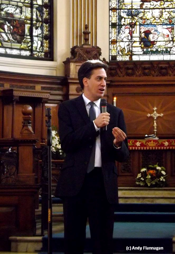 Ed Miliband MP speaking after the annual conference service