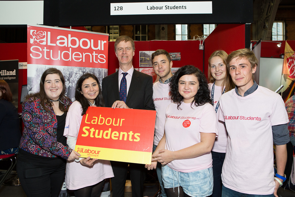 Stephen with Labour Students