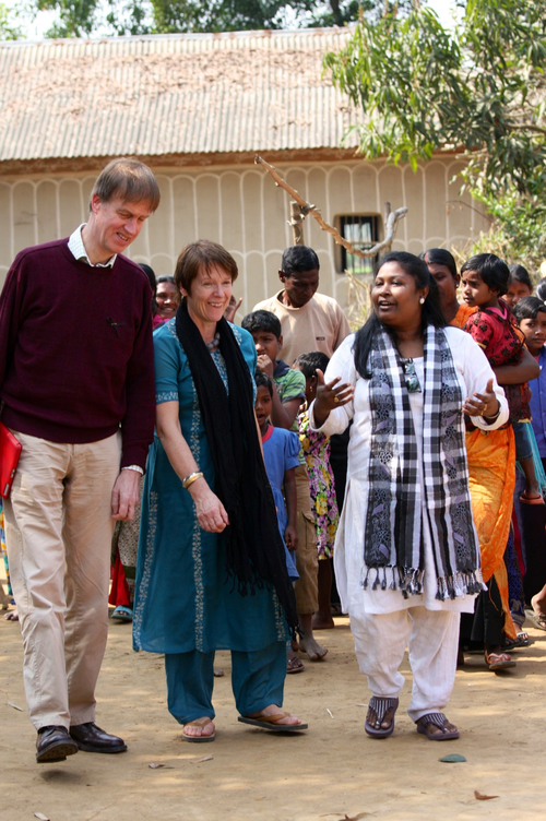 Stephen on a visit to Bangladesh last year with fellow MP Caroline Spelman