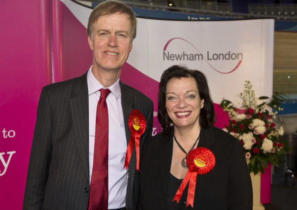 Stephen with West Ham MP, Lyn Brown. (Photograph courtesy of Newham Recorder)