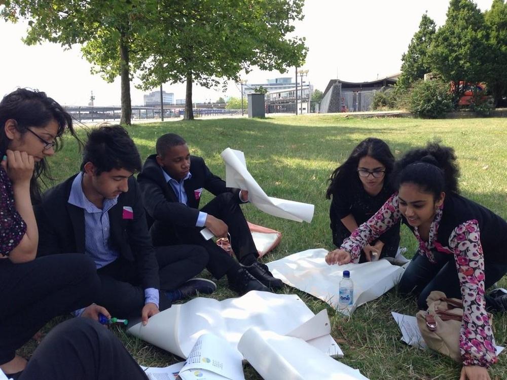 Politics School students designing their own manifesto