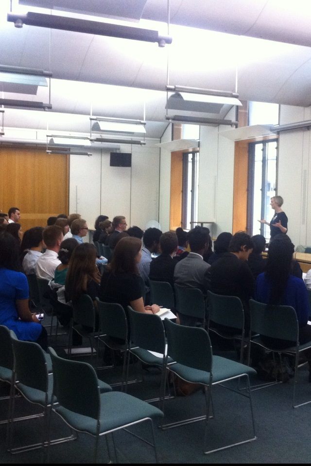 At a Q&A with Stella Creasy MP