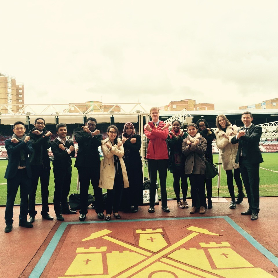 At West Ham to learn about their partnerships with local community groups