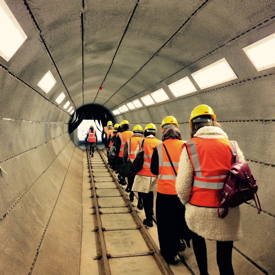 Politics School students visit the Crossrail Tunnelling Academy in Manor Park