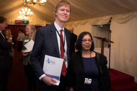 Stephen with Mercy Jeyasingham, Chief Executive of Vision 2020 UK