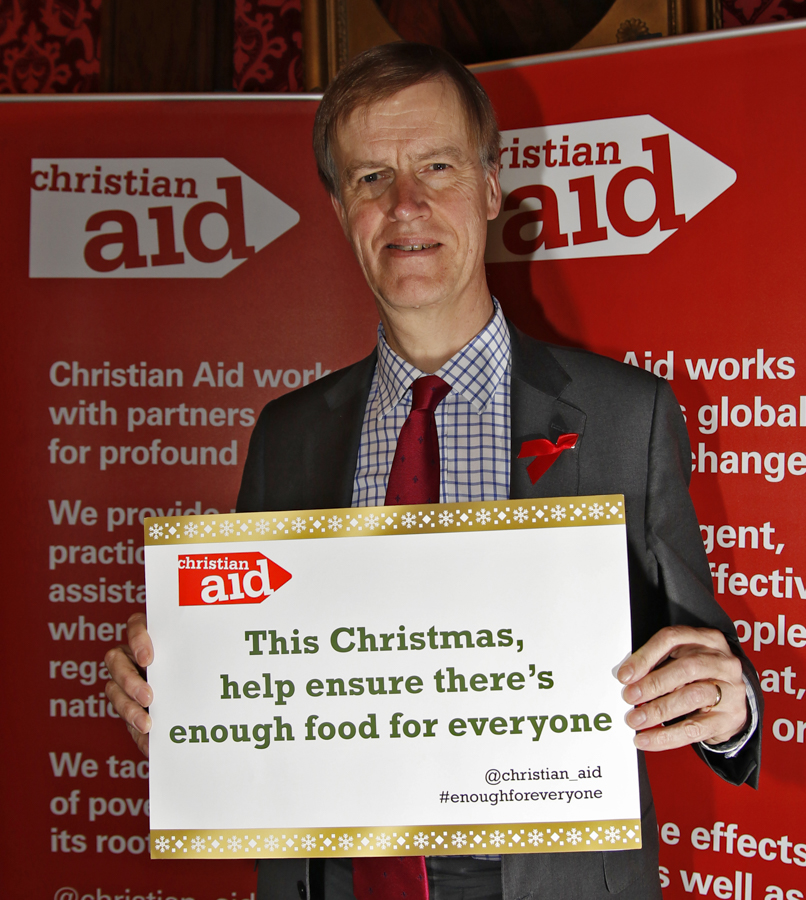 Stephen at the Christian Aid reception in Parliament