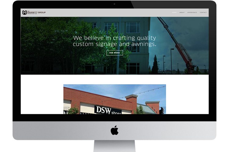 The Garrett Group website, built with a Squarespace template:  http://www.ggic.net