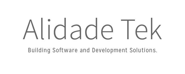 This new company provides high end software and development services to mid to large sized companies, ranging from eCommerce websites to database management. An alidade is a sighting device or pointer for determining directions or measuring angles, used in surveying and astronomy. The word represents the company's ability to determine the direction clients should go for the greatest success. The name has a software feel to it, while also being abstract and refined in order to give a higher end impression than its competition.