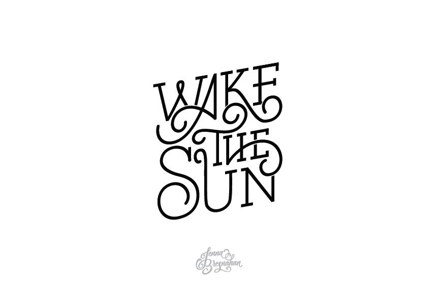 Wake The Sun- Band logo