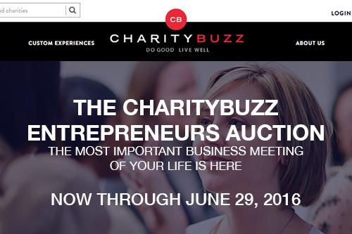 Charitybuzz Microsite