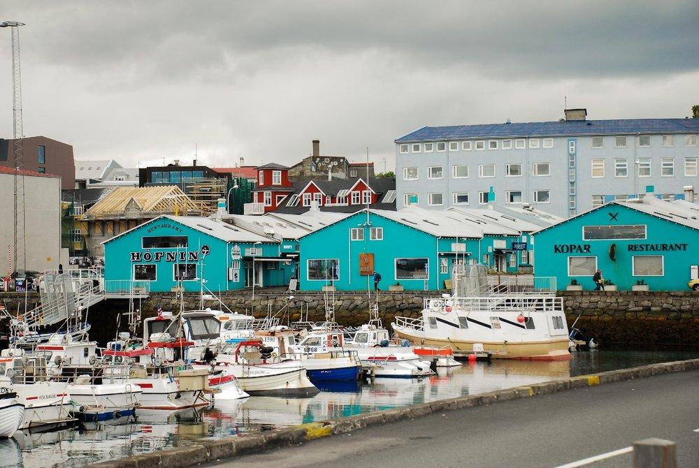 Downtown Reykjavik Harbor