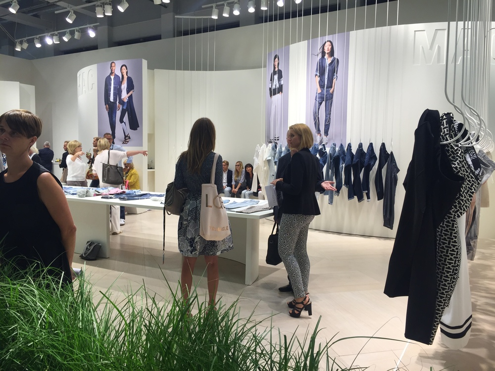 MAC Jeans made quite the impression with their sleek and clean booth design