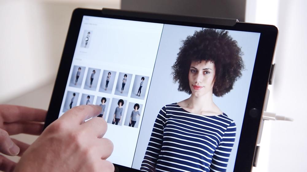 StyleShoots model iPad ecommerce