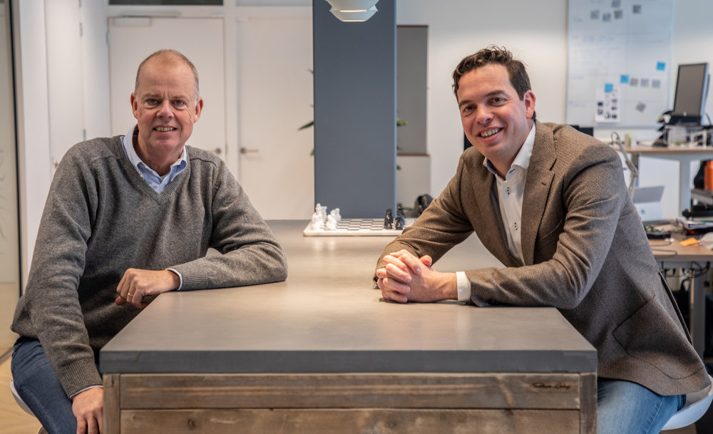 From left to right: Maurits Teunissen, CEO at StyleShoots and David Jonkers, CEO at Bright River.