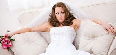 Don't be this bride!  Hire a wedding planner so you can relax and enjoy your special day!
