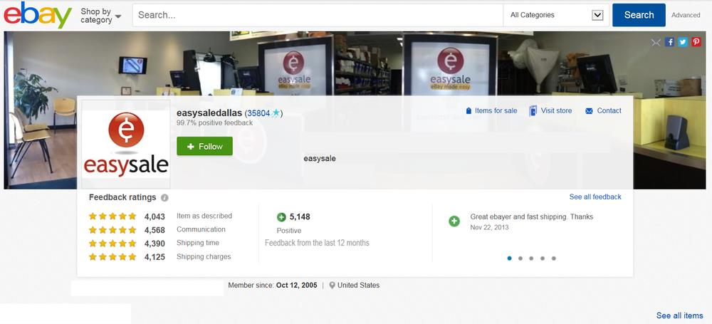 Click to shop easysaledallas on ebay