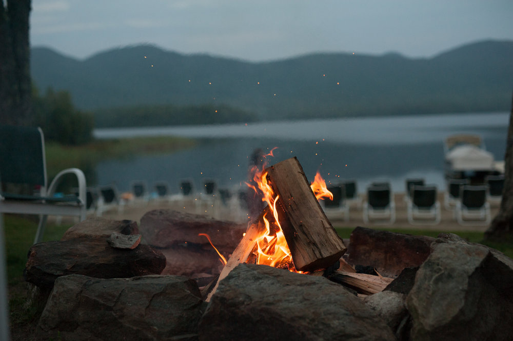 Fire Pit during sunset at Mountain Top Inn and Resort