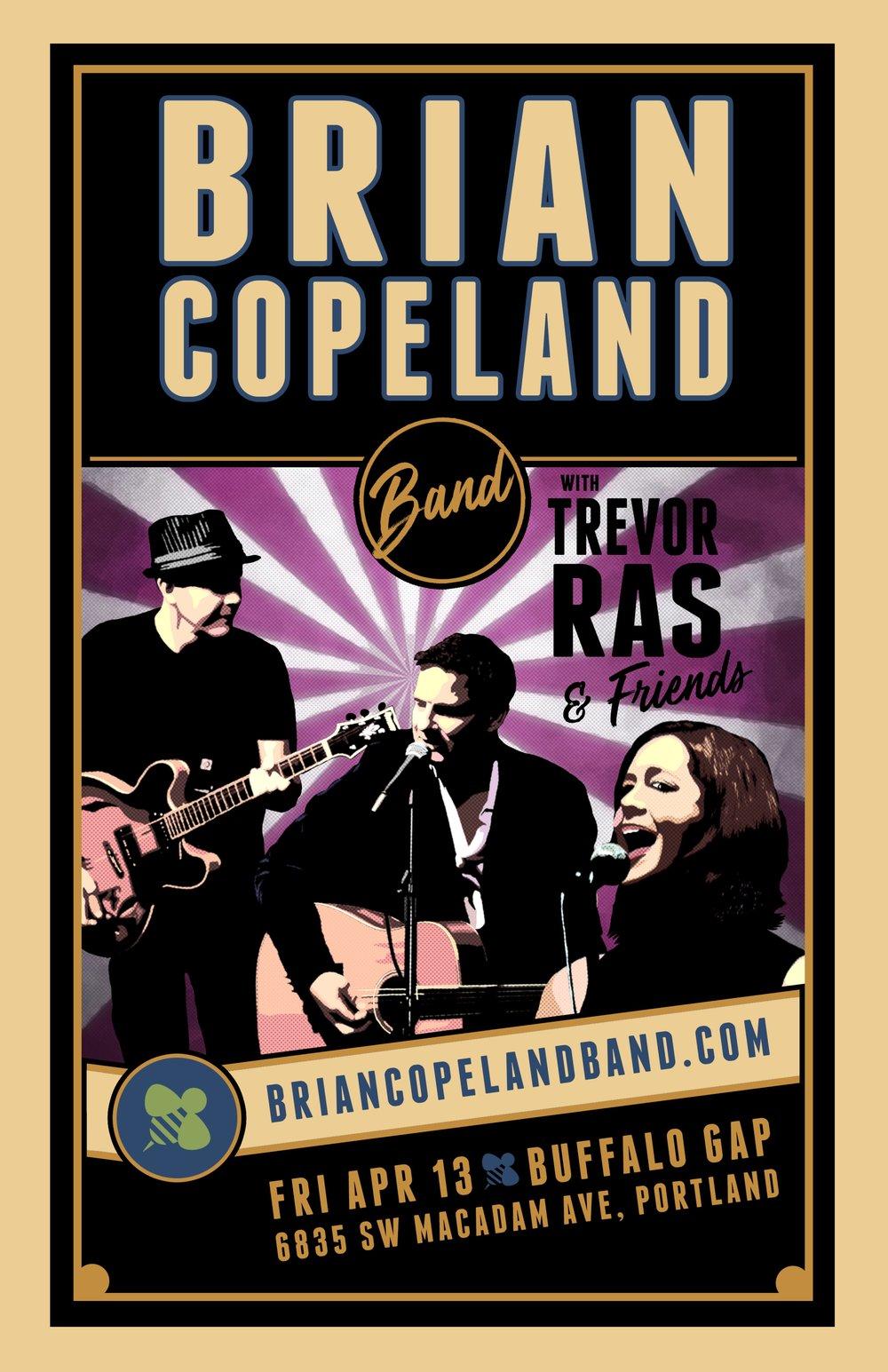 Join Brian Copeland Band and Trevor Ras April 13 Buffalo Gap