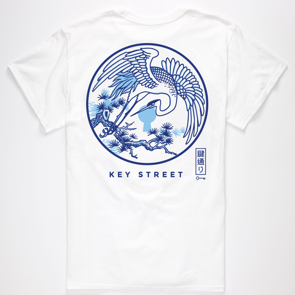 the Crane tee in white - SHOP NOW
