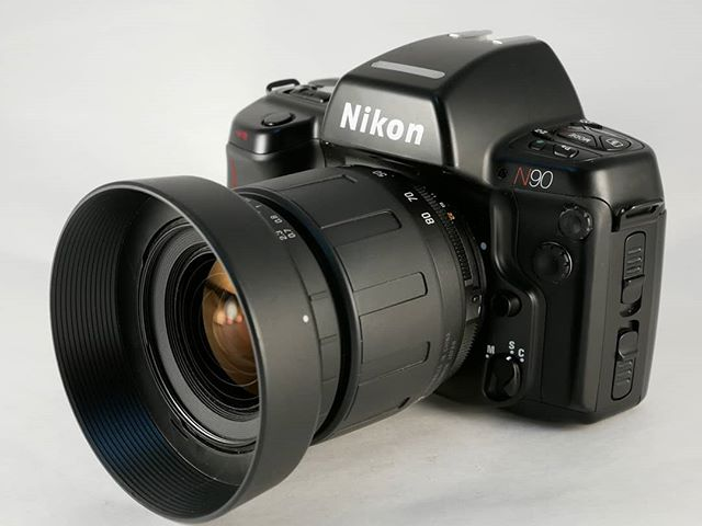 Today we have the Nikon N90! This camera and it's upgrade, the N90s, are well known in the film world for having extremely accurate metering capabilities.  This camera comes paired with a Tamron 28-70mm f/3.5-5.6 lens and we have it priced at $79.95! . . . . #nikonn90 #nikonlove #nikon #nikonfilm #35mmnikon #filmnikon #nikonfan #nikonfamily #nikonshooter #nikonshooters #nikoncameras #tamronlens #tamron2870 #filmcameras #filmisalive #istillshootfilm #filmisnotdead #filmisawesome #bakerphotoandvideo #okcmetrophotographer #oklahomaphotogs #oklahomaphotographers #oklahomaphotography #oklahomabusiness #yukonok #okcmetro #shoplocalok