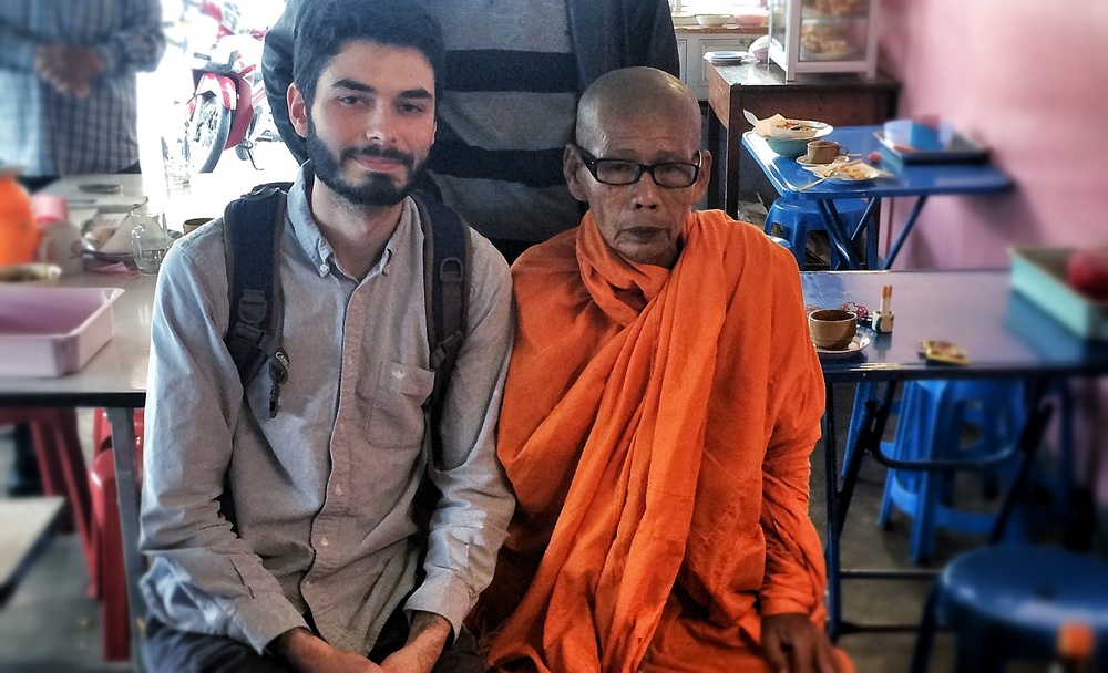 Todd and one of the Buddhist monks that live in and around Mae Sot.