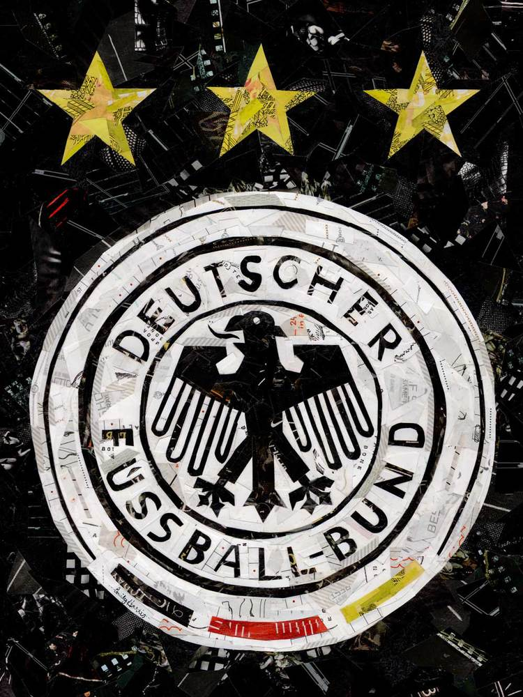 German Soccer Collage Emily Harris Art Design