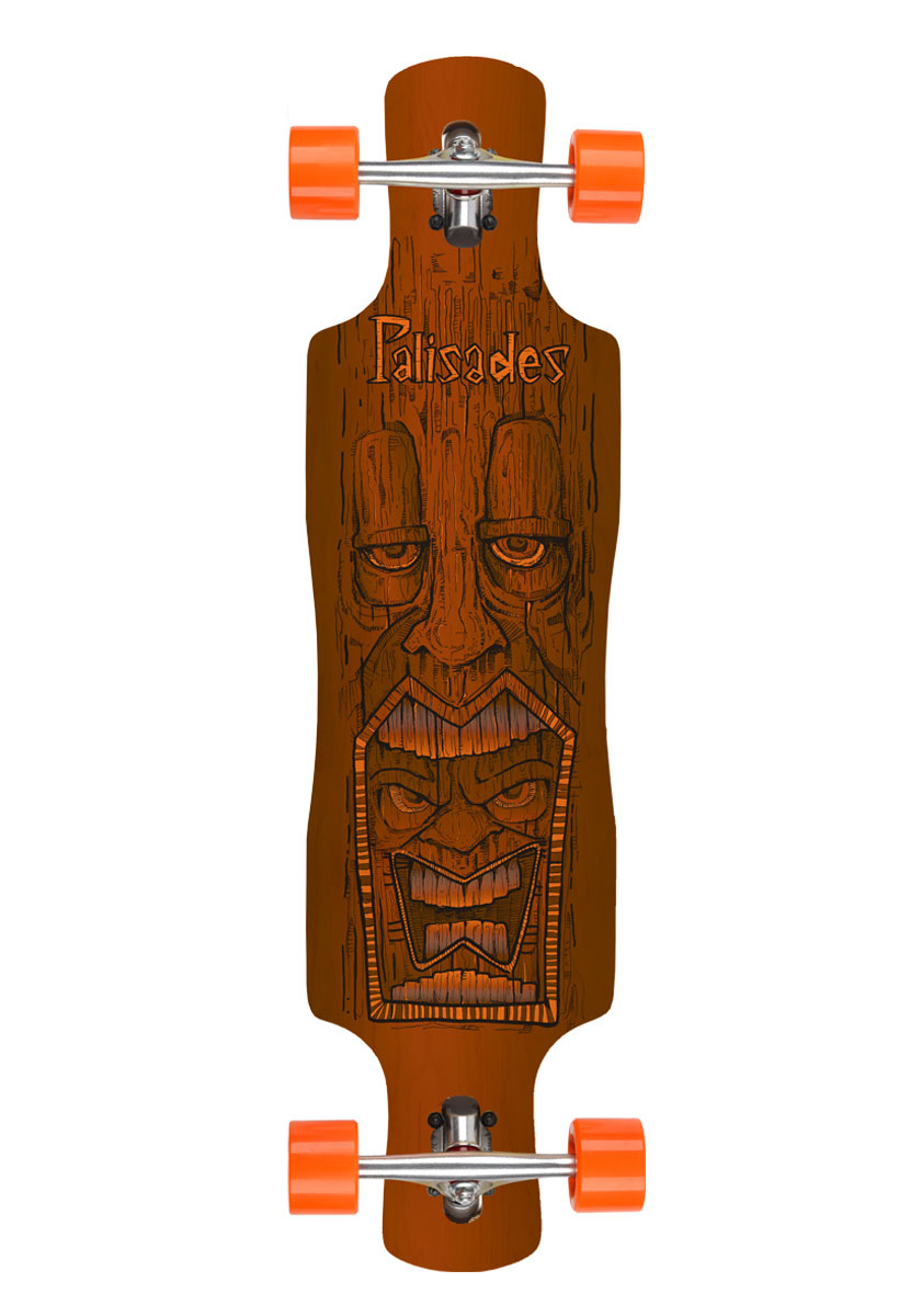 "Tiki Cannibal   Drop Thru  9 1/2"" x 37 1/2"" 27""WB"