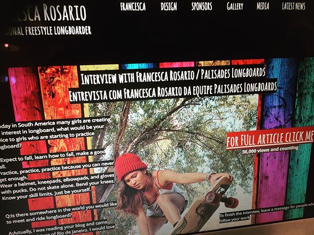 Congrats to our team rider @francescarosario with her interview with longboardtodaybrazil magazine #palisadeslongboards #longboards