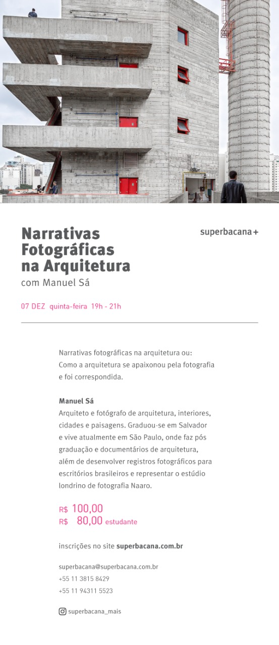 cartaz narrativas fotográficas na arquitetura