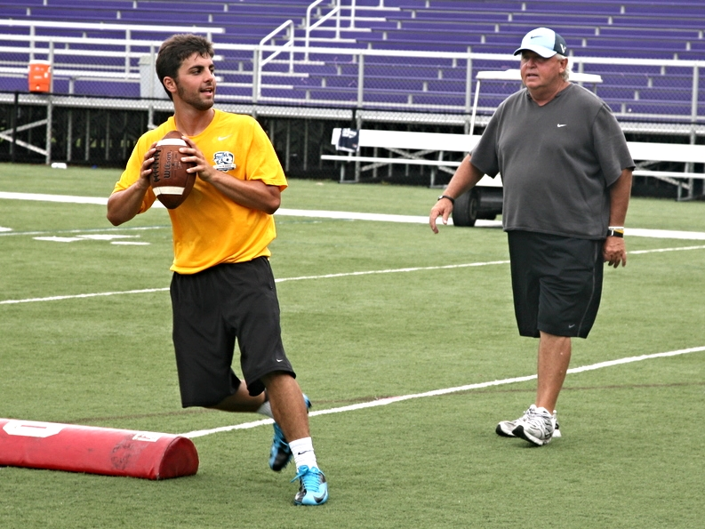 2016 QB Nick Heras with QB Coach Joe Dickinson
