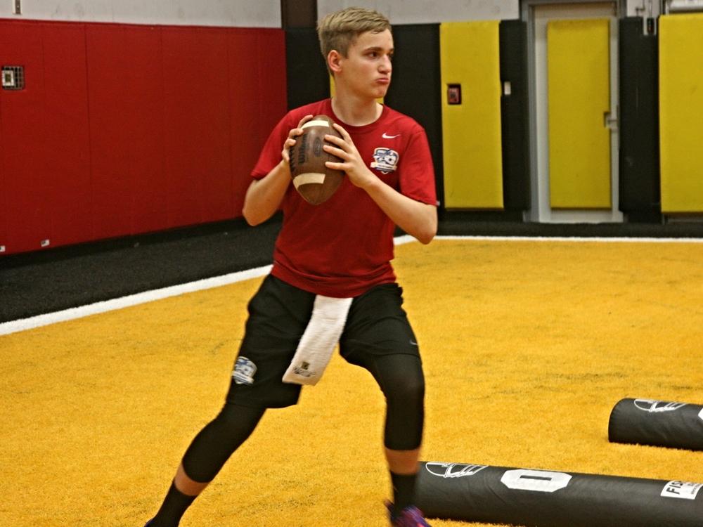2019QB Will Kuehne at 2014 Jacksonville Elite Holiday QB Training (Photo courtesy of DeBartolo Sports).