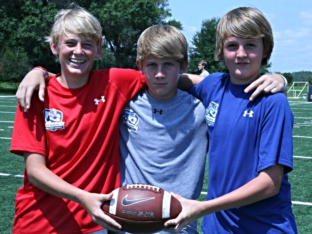 2017 QB Mac Jones, with Chandler Sokolosky and class of 2017 QB Jack Diamond (Shawnee, OK).  Photo from 2012.