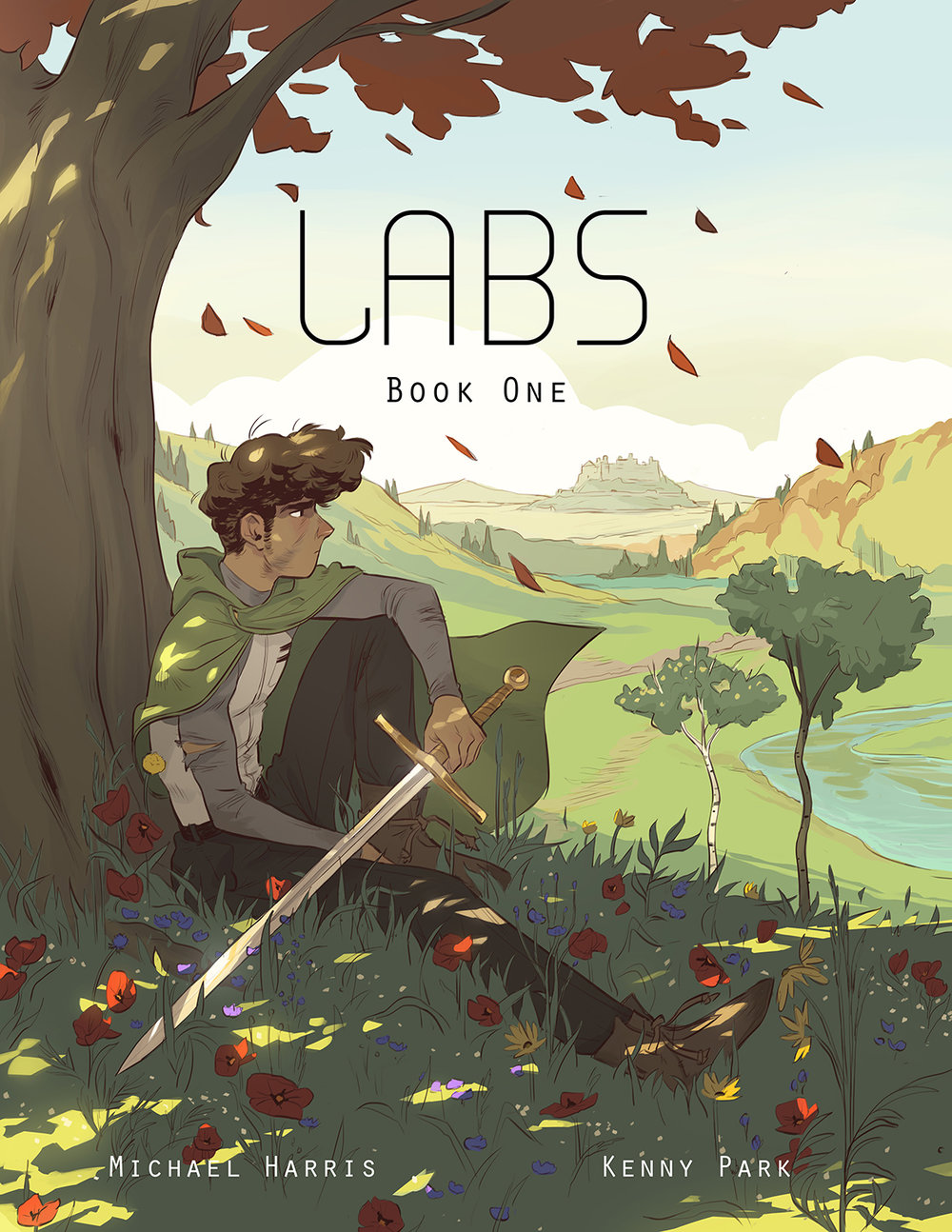 A dystopian graphic novel called Labs. Art by the amazing Kenny Park.  50 beautiful pages (a complete first adventure) are available at Amazon's Comixology site.