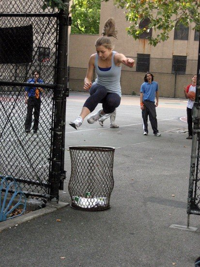 Nikkie Zanevsky testing her jump