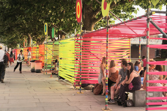 Morag Myerscough and Luke Morgan - Temple of Agape - Southbank UK