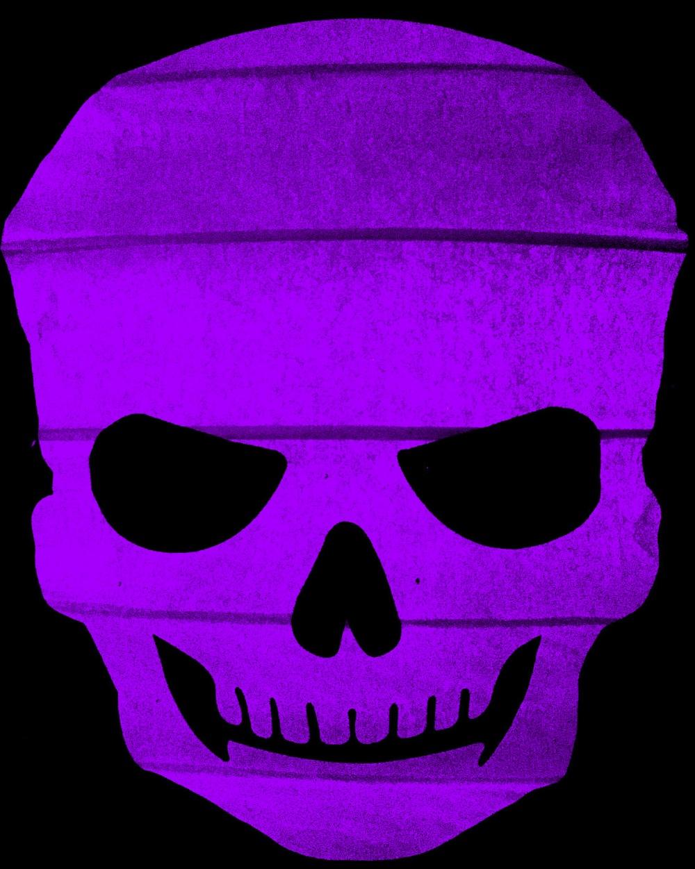 Scary Purple Skull