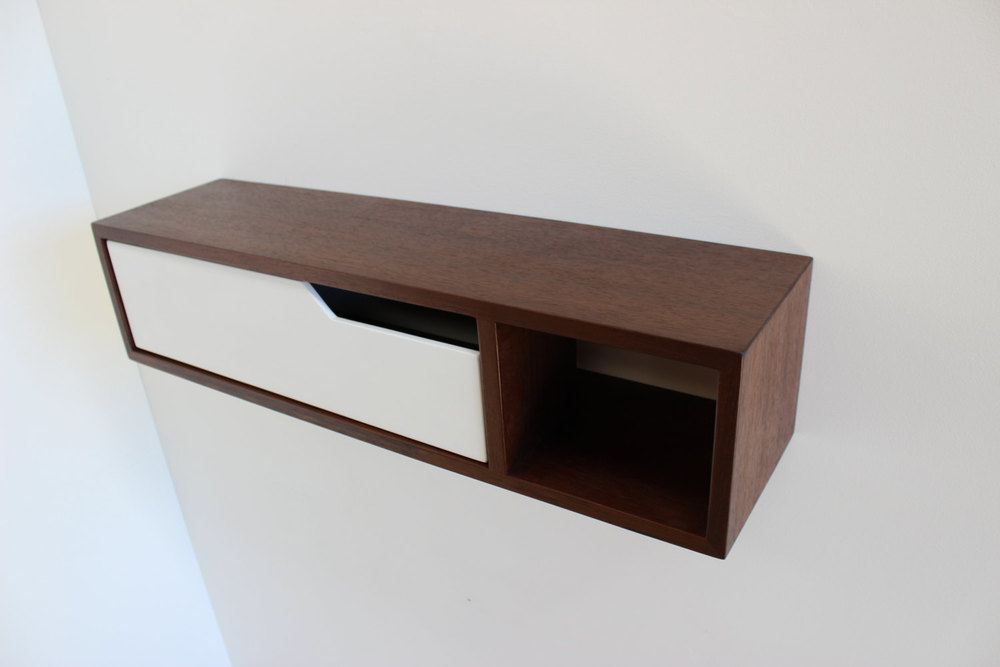 Mid Century Modern Floating Console, Entry Table, Side Table