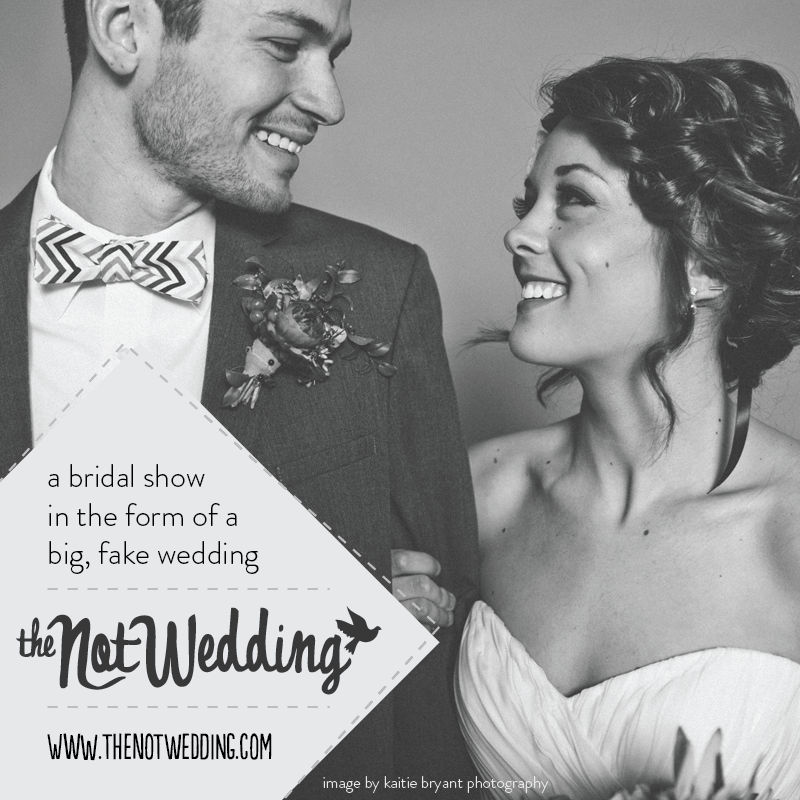 What better way to explore your wedding day vendor options than by attending a BIG FAKE wedding?! Gussied will be performing at the NotWedding reception August 14th, 2014. Want tickets? More information available  here .