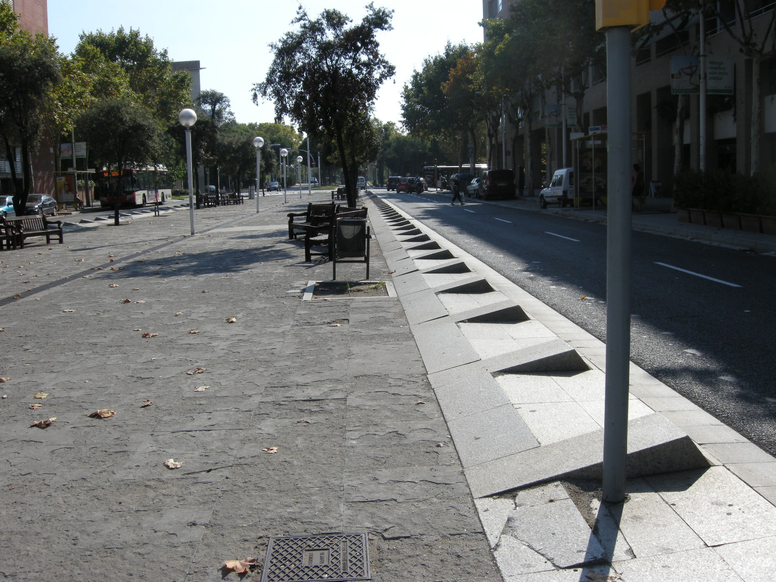 Crenelated Curb in Barcelona, Spain