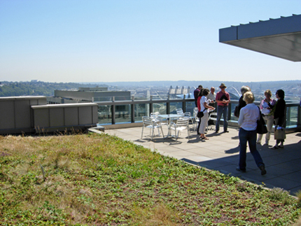 At the Justice Center Roof for the Seattle Green Roof Tour - July 30, 2010