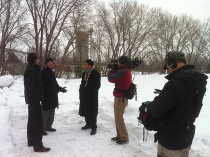 Turenscape Team with National Geographic crew in Minneapolis
