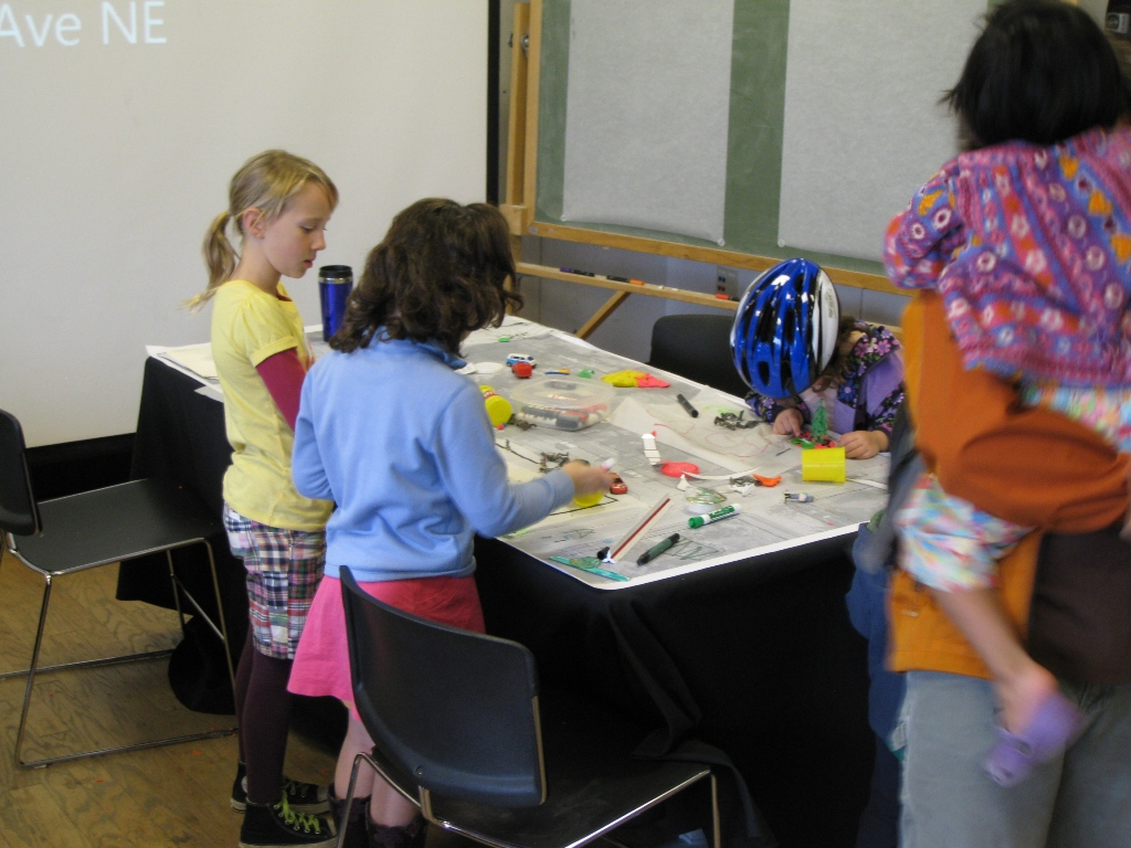Kids were invited to design their own livable streets.