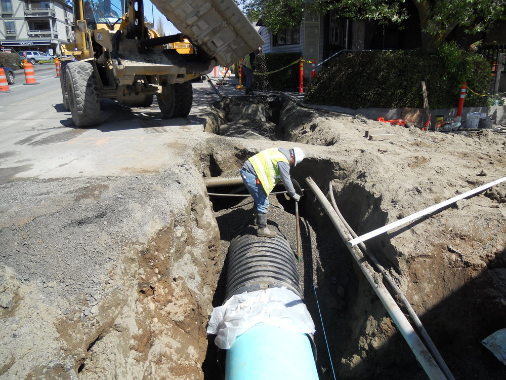 SANITARY SEWER + WATER MAIN REPLACEMENT FOR WINSLOW WAY | BAINBRIDGE ISLAND, WA